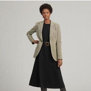 Vintage RALPH LAUREN black tan silk Tweed coat 16